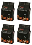4 X Bar-Be-Quick 3kg Lumpwood charcoal- Great for everyday barbecues!