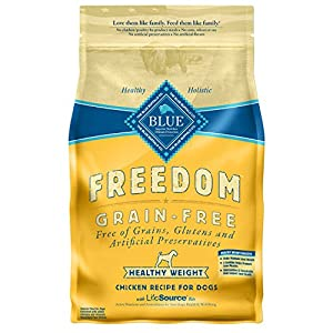 Blue Buffalo Freedom Grain Free Healthy Weight Chicken Recipe Dog Food, 24 lbs.