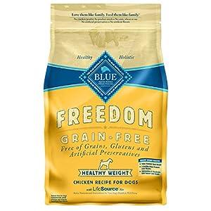 Blue Buffalo Freedom Grain Free Healthy Weight Chicken Recipe Dog Food, 24 lbs.