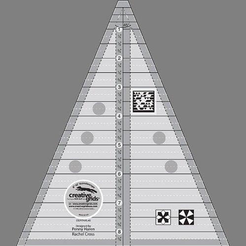 Creative Grids 45 Degree Kaleidoscope And Dresden Plate Ruler (Cgrtkal45)
