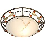 Globo 44130-1 Metal Leaves and Balls Savanna Ceiling Lamp