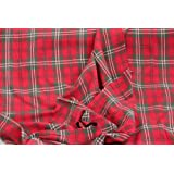 Homescapes Pure Cotton Furnishing Fabric - Edward Tartan Check - Red Green - 150 cm Wide - Thick Yarn Dyed Woven - for Upholstery Curtain Cushion Soft Furnishings Heavy Dress Material - Per Metreby Homescapes