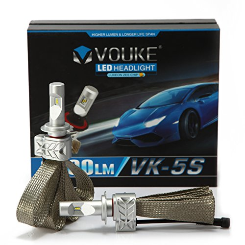 VK-5S H7 8000LM LED Headlight Conversion Kit, Low beam headlamp, Fog DRL Light, HID or Halogen Head light Replacement, 6500K Xenon White, 1 Pair- 2 Year Warranty (2003 Vw Passat Fog Light Cover compare prices)