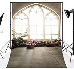 LB 10x15ft Bright Window Vinyl Photography Backdrop Customized Photo Background Studio Prop JLT-6059