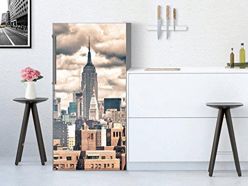 Film adhésif décoratifx | Image style élegant - Individualiser Machine à laver cuisine | Design Skyline NYC | 60x120 cm