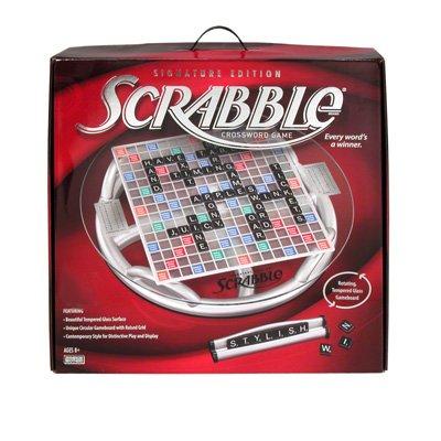 Scrabble Crossword Game - Glass Signature Edition