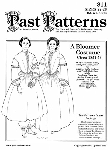 1851-1853 Bloomer Costume and Dress (16-20)