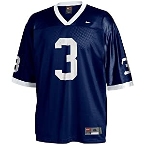 Nike Penn State Nittany Lions #3 Navy Replica Football Jersey (XXX-Large)