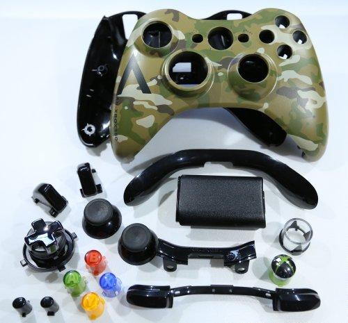 Oem Microsoft Camo Camoflague Xbox 360 Controller Shell Housing (Thumbsticks, Transforming D-Pad, Buttons, Ect)