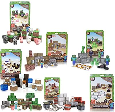 Minecraft Papercraft Deluxe Bundle Pack With 7 Sets by toynk