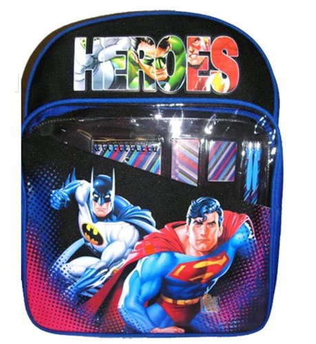 Justice League Backpack Superman Batman Green Latern Flash Incredible Hulk