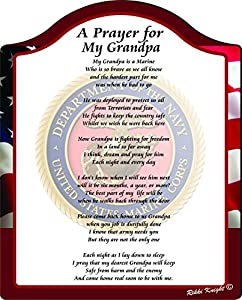 Amazon com a prayer for my grandpa us marines touching 8x10 poem