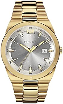 Bulova Mens 97B137 Japanese Quartz Yellow Watch