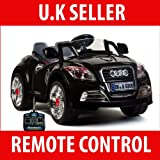 KID'S RIDE ON ELECTRIC RECHARGEABLE /REMOTE CONTROL AUDI LOOK BLACK COLOR CAR, AGE 2-7 YRS