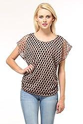 Suhi Womens Net Tops -Brown -Free Size
