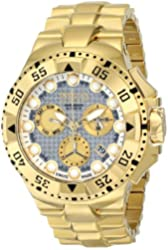 """Invicta Men's 15983 """"Excursion"""" 18k Gold Ion-Plated Watch"""