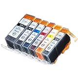 6 Pack Compatible Canon CLI-226 , PGI-225 1 Small Black, 1 Cyan, 1 Gray, 1 Magenta, 1 Yellow, 1 Big Black
