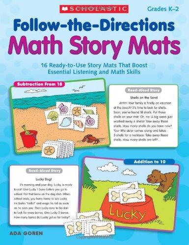 Follow-the-Directions Math Story Mats: 16 Ready-to-Use Story Mats That Boost Essential Listening and Math Skills