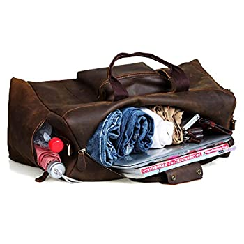 S-Zone Vintage Crazy Horse Leather men's Travel Duffle luggage Bag 2