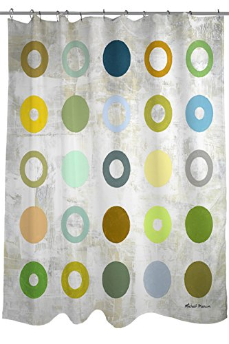 Thumbprintz Shower Curtain Spring Days 2 Dots