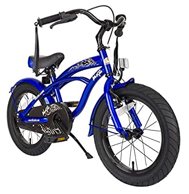 Bikestar 16 Inch (40.6cm) Kids Childrens Bike Bicycle - Cruiser - Blue