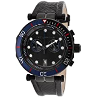 Ted Lapidus 5125602Sm Chronograph Black Genuine Leather Black Dial Men's Watch