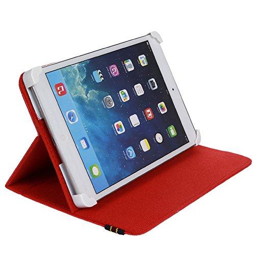 """Danystar® Custodia Cover Universale 7"""" per Tablets (Rosso)"""
