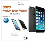 "iPhone 6 4.7 Screen Protector - JOTO iPhone 6 Screen Protector Film, Ultra Crystal Clear (Invisible) version Screen Guard for Apple iPhone 6 4.7"" with Lifetime Replacement Warranty (3 Pack)"