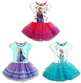 Frozen Princess Elsa and Anna Dress Girl's Purple Tutu Dress Costum (3, Elsa)