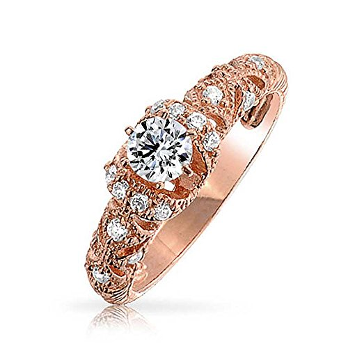 Bling Jewelry Filigree Art Deco Style Rose