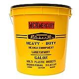 (マーキュリー) MERCURY プラスチック バケツ ふた付き レギュラー MEPLBU アメリカン雑貨 ガーデニング ゴミ箱 傘立て インテリア 収納 ランドリー (Yellow) [並行輸入品]