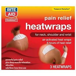 Amazon.com: Rite Aid HeatWraps, Neck, Shoulder & Wrist, 3