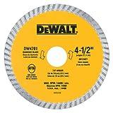 Disco para cortadora  Industrial 4-1/2 pulgadas en seco o mojado DEWALT DW4701 Hoja con 7/8- pulgadas