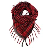 amtonseeshop Latest Hot Selling Unisex Fashion Women Men Scarf Shawl Wrap (Red)