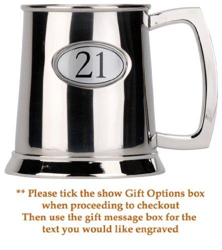 Metal Tankard - 21st Birthday gift - 1 pint