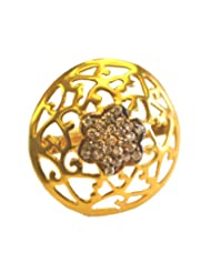 Aina Jewels 92.5 Silver Jewellery Gold Plated With Cubic Zircons Gold Plated 16.5mm Ladies Ring AGPR05