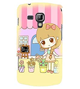 Printvisa Sweet Girl Gardening Back Case Cover for Samsung Galaxy S Duos S7562