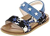 Junior Boys Synthetic Casual Athletic & Outdoor Sandals (JS021, Blue, 22)