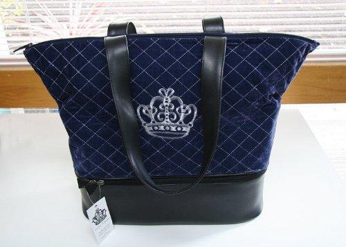 Lantern Moon Royal Knitting Bag by Nicky Epstein - Blue Velvet by Lantern Moon