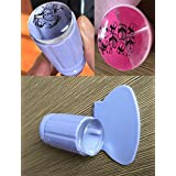 Finger Angel New 2.8cm Clear Jelly Nail Art Stamping Stamper Scraper Kit DIY Polish Print Template Manicure Tools