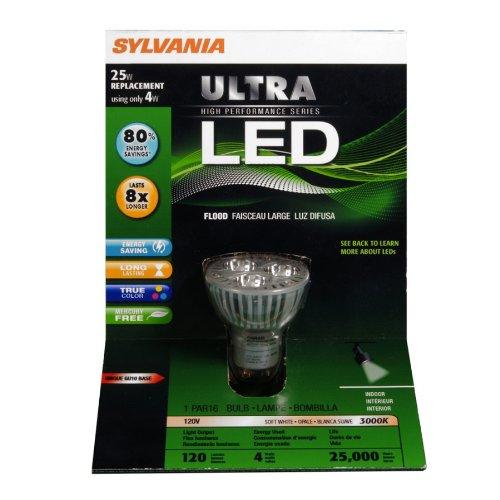 Sylvania 78621 4W Ultra Led Retrofit Par16 Gu10 Lamp, Warm White