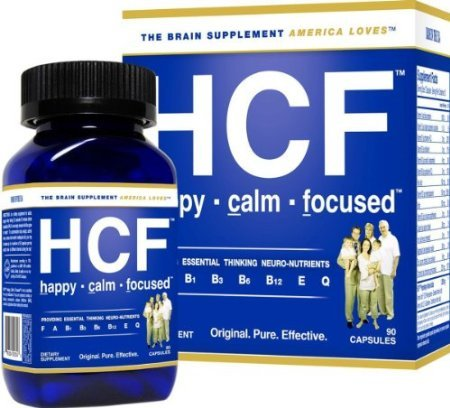 Hcf Happy Calm Focused Brain Supplement - 1 Month Supply - 90 Capsules front-959076