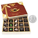 Chocholik Belgium Chocolates - Great Combination Of 20 Pc Assorted Chocolates With 5gm Pure Silver Coin - Gifts...