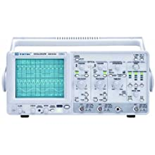 Instek GOS-6103 Portable Analog Oscilloscope, 100MHz Bandwidth, 2 Channels, Timebase Auto-Range Function, CRT with 16kV Accelerating Potential
