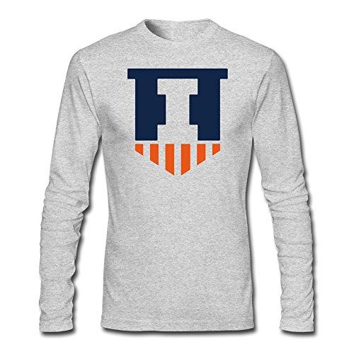 Sasha Men's Illinois Fighting Illini T-shirt HeatherGray 100