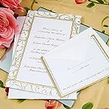 Gold Swirl Wedding Invitation Kit