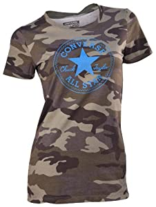 Converse Women's Camo Chuck Taylor All Star Patch T-Shirt-Green-Large