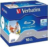 Verbatim BD-R Single Layer 25GB 6x Speed Printable Surface Scratchguard Plus, 10 Stück