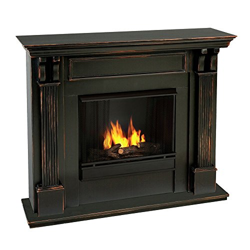 Calie Gel Fireplace in Mahogany (Black Wash)