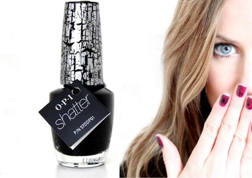 OPI Katy Perry Collection Nail Lacquer, Black Shatter .5 fl oz (15 ml)